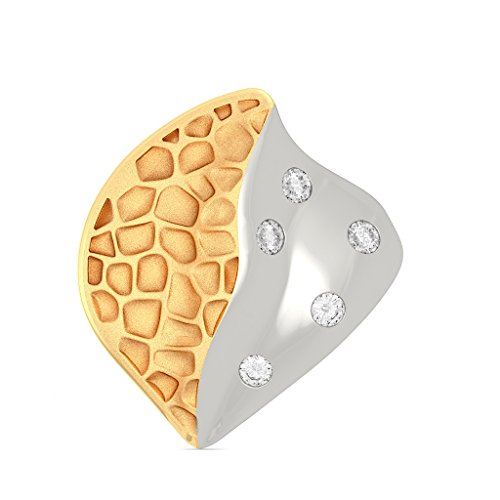 14 K Or jaune 0.08 CT TW White-diamond (IJ | SI) Boucles d'oreille à tige