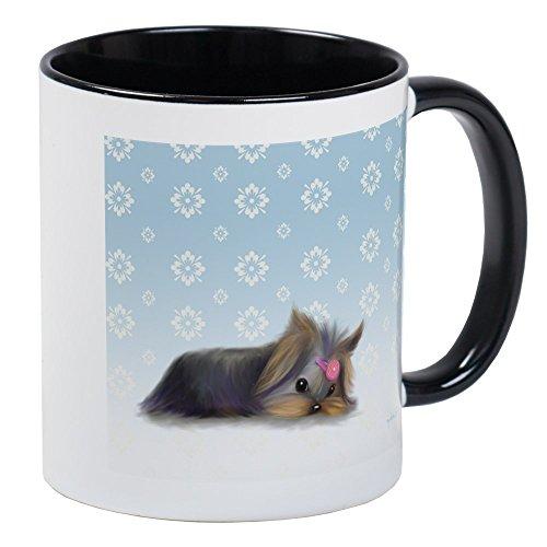 CafePress - Bycatiacho Yorkie L.Thinker Mug - Unique Coffee Mug, Coffee Cup