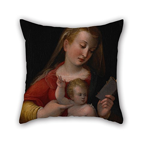 Oil Painting Longhi, Barbara - Madonna and Child Pillow Shams 16 X 16 inches / 40 by 40 cm Gift Or Decor for Bedroom Dining Room Kitchen Floor Wedding Bar - Both Sides