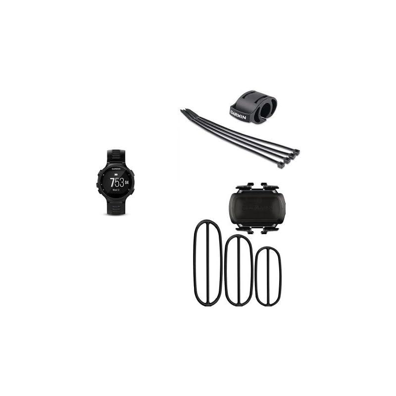 Garmin Forerunner 735XT, Black/Gray | Forerunner Bicycle Mount Kit | Bike Cadence Sensor