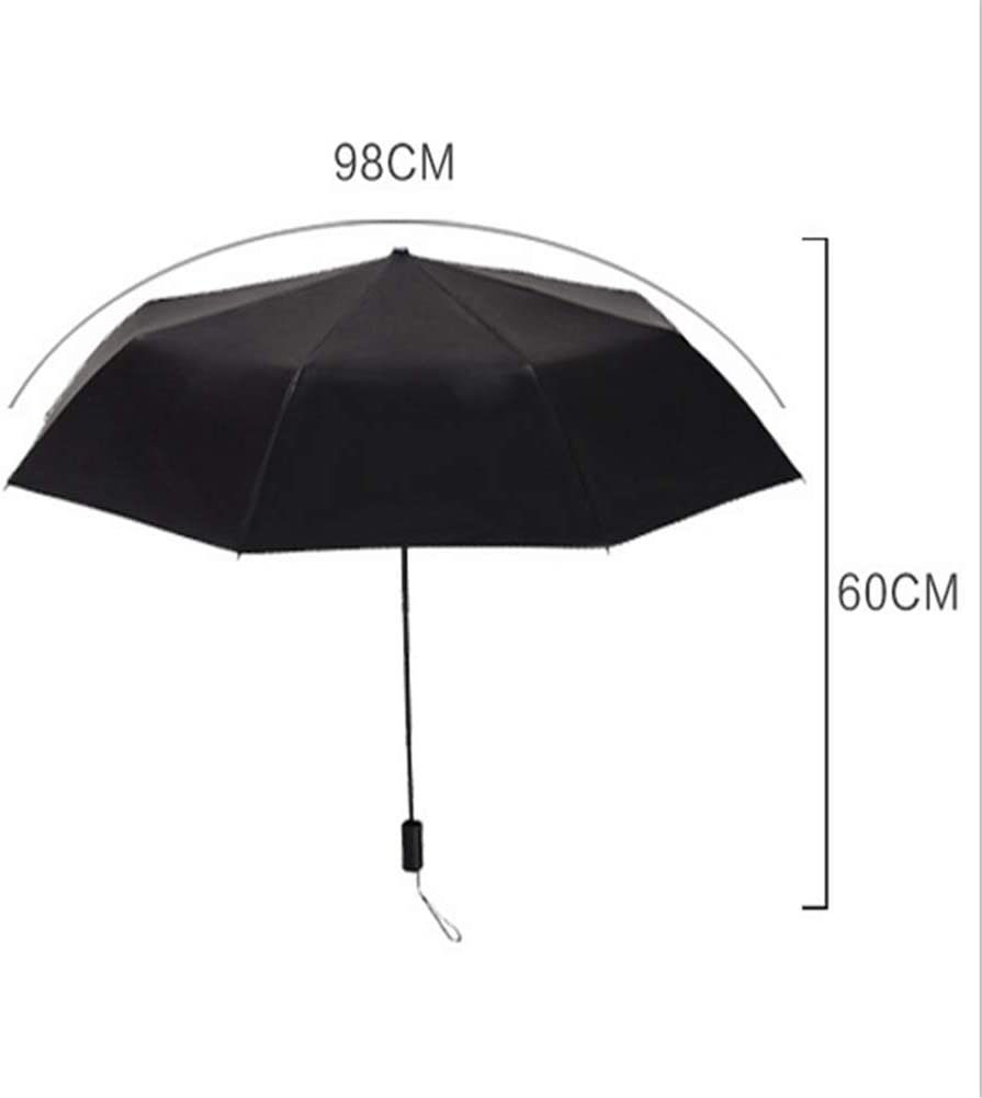 Lin Nan Manual Compact Folding Umbrella,8 Bone Lightweight Waterproof Windproof Parasol with Black Anti-UV Coating Creative Printed Swallow Beautiful Flower