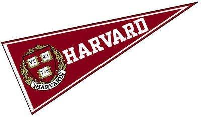 - Harvard 12x30 Felt Pennant