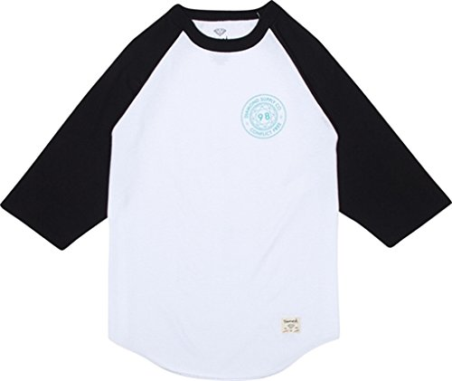 Diamond Conflict Free Raglan 3/4 Sleeve Xxlarge White Black Long Sleeve by Diamond