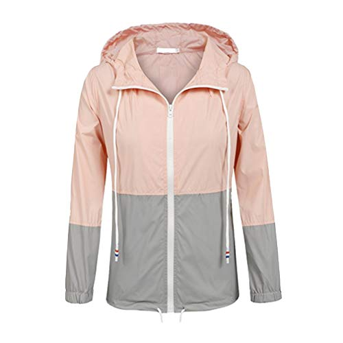 Impermeabile Outdoor Leggera Fangcheng Raincoats grey Antipioggia Cappuccio Giacca Trench Donna Pink Active Con qUYU54TWw