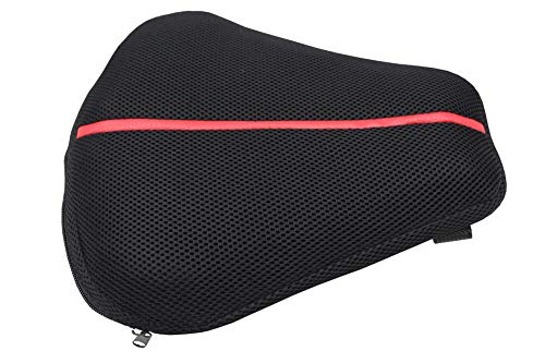Sport Motorcycle Cruiser Seat Air Cushion Pad for Comfortable Traveling Pressure Relief Durable Fabric Fits Most Seats of Sport Touring, Sport Eliminate Pressure Increase Riding Comfort 11
