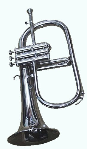 GLOBAL ART WORLD BB PITCH CHRISTMAS GIFT FLUGELHORN MADE OF CHROME ALONG WITH MOUTHPEICE MI 042 by Global Art World