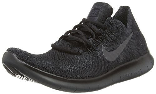 Nike Mens Free RN Flyknit 2017 Running Shoes Black/Anthracite 880843-010 Size 11