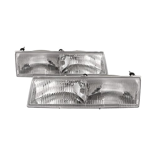New Mercury Cougar Headlight - Headlights Depot Replacement for Mercury Grand Marquis/Cougar Replacement Headlights Headlamps New Pair
