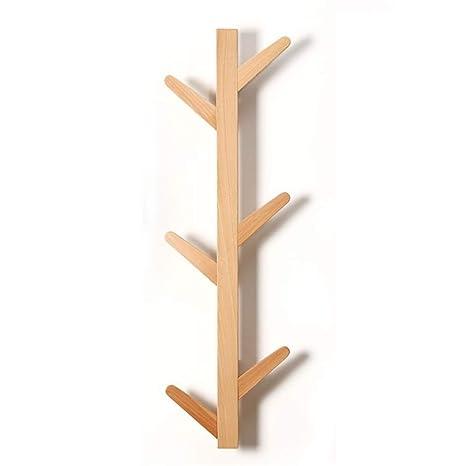 Estante de la ropa Perchero Perchero de madera maciza ...