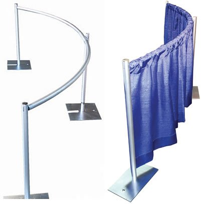 Pipe Support System - Curved Drape Support (3-Piece Set)