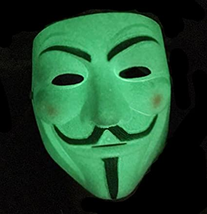 Smart Buy Anonymous Unknown Hacker V For Vendetta Face Mask Glow In The Dark
