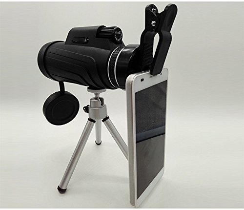 PLLP 10 × 52 High-Power Monocular Binoculars Outdoor Travel Portable Mobile Phone Camera Glasses,Black by PLLP
