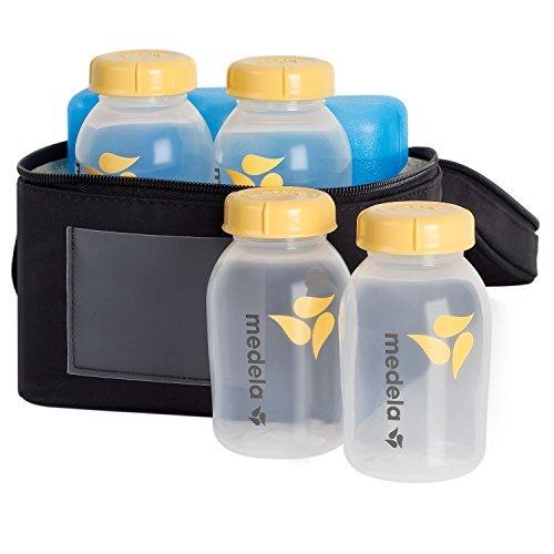 Medela Storage Kit - Breastmilk Cooler Set with Extra Ice Pack - Breast Milk Transport Bag