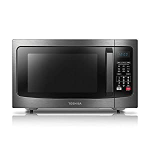 Toshiba EC042A5C-BS Countertop Microwave Oven with Convection, Smart Sensor, Sound On/Off Function and LCD Display, 1.5…