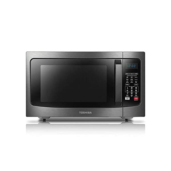 Toshiba EC042A5C-BS Convection Microwave Oven with Convection Function and Smart Sensor, 1.5 Cu.ft,  1000W, Black Stainless Steel