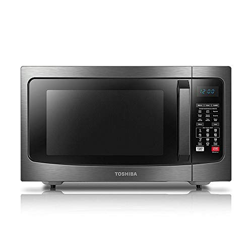 (Toshiba EC042A5C-BS Microwave Oven with Convection Function Smart Sensor and LED Lighting, 1.5 Cu.ft, Black Stainless)