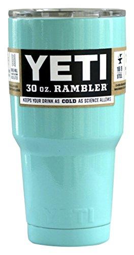 Yeti Custom Seafoam Turquoise  Rambler Tumbler Stainless Steel Cup, Includes Lid, 30 oz.
