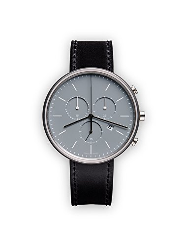 UNIFORM WARES M40 Swiss Quartz Stainless Steel and Black Leather Watch