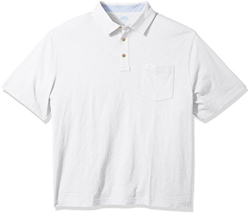 IZOD Mens Big and Tall Saltwater Chest Pocket Slub Polo