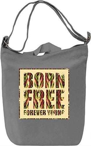 Born Free Borsa Giornaliera Canvas Canvas Day Bag| 100% Premium Cotton Canvas| DTG Printing|