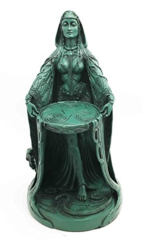 Ebros Gift Irish Triple Goddess Danu Figurine Don Divine Feminine Source Wisdom Wealth Strength Statue Moon Goddess ()