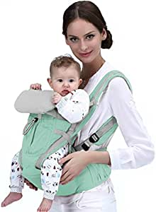 Baby Carrier-Ergonomic 360 Baby Carrier-Easy to Put On 6 Safe and Comfortable Positions-Backpack Carriers Front and Back-Extendable Newborn-Toddler Carrier-HipSeat Infant Carrier-Improved Ergo Model