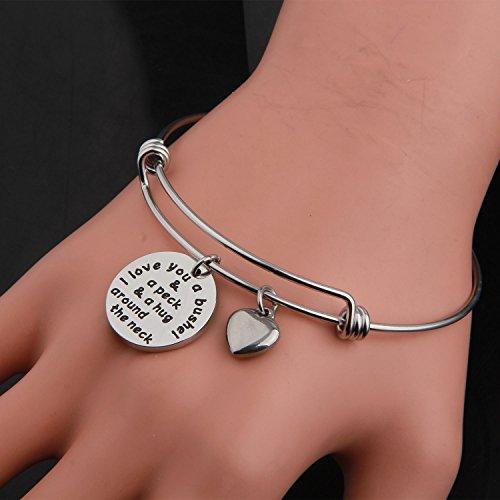 KUIYAI I Love You a Bushel and a Peck Bracelet Mom Grandma Bracelet (Silver) by KUIYAI (Image #3)'