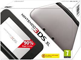 Nintendo 3DS - Consola XL - Negro y Plata [Importación inglesa]