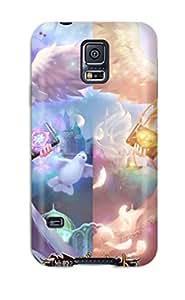 Durable Girls Angel Animal Bird Book Breasts Cleavage Dress Flowers Headdress Logooriginal Pink Ryushin Sword Thighhighs Back Case/cover For Galaxy S5