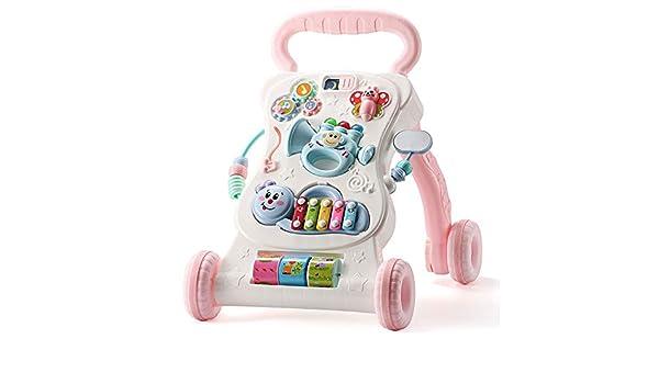 LIUXING-hm Andador con Ruedas Baby Walker Trolley antivuelco Baby ...