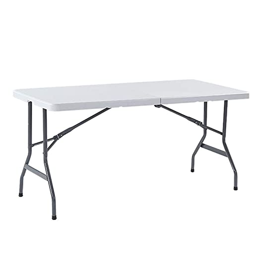 RANRANJJ 1.8M 6ft Heavy Duty Table Plegable Mesa de Utilidad ...