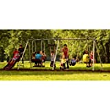 Flexible Flyer Play Park Swing Set w/ Slide, Swings, Air-Glider, & Lawn Swing
