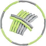 Hula hoop para fitness EVER RICH®, 1,2 kg, color verde y gris