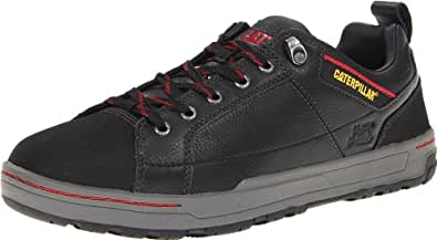 Caterpillar Men's Brode Steel Toe Work Shoe,Black Leather,7 W US