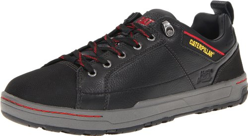 Caterpillar Men's Brode Steel Toe Work Shoe,Black Leather,10.5 W US