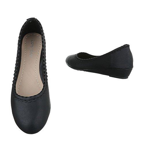Ital chaussures Schwarz compensées femme Design 167qF0