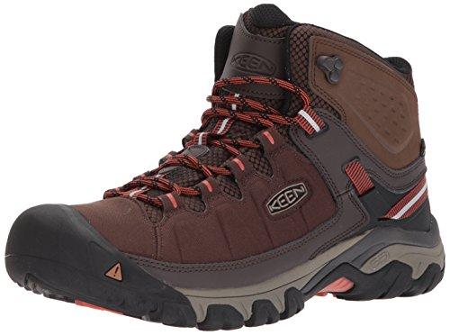 (KEEN Men's Targhee EXP MID WP Hiking Boot, Mulch/Burnt Ochre, 11.5 M US)