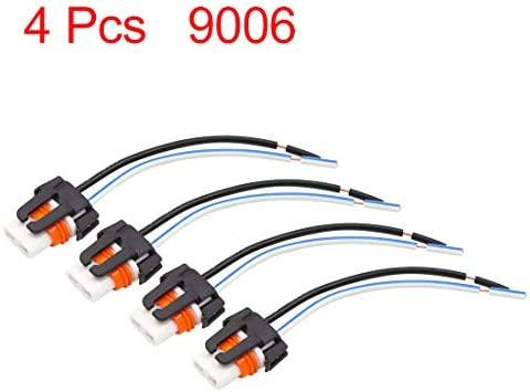 sourcing map 4Pcs Conector de Toma de Luz 9006 Conector Zócalo de ...
