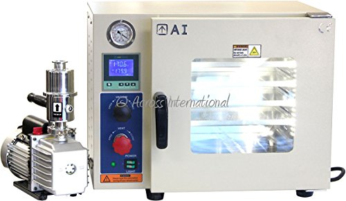 Across International AT09p7.110 Ai Vacuum Oven with 7 cfm Pump, 5 Sided Pad Heating, 25% Faster Heat Gas Back-Filled, 0.9 cu. ft.