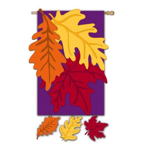 Colors of Autumn Vertical Flag
