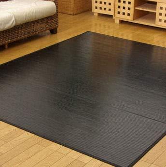 竹ラグ 6畳 250×340 艶のある心地良さ バンブー カーペット 丸巻き ひんやり 暑さ対策  ブラック B01CJKJQ4O