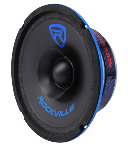 "Rockville RM64SP CEA Compliant 6.5"" 120W Mid-Range Midrange Speaker 4 Ohm"