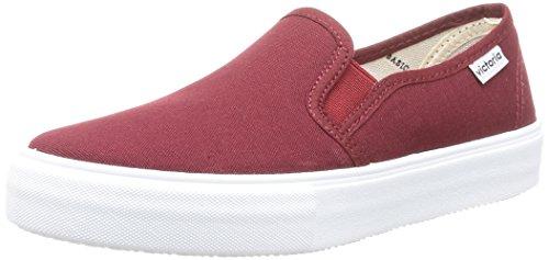 On rouge Slip Adulto Lona Rosso Sneakers Calego da Unisex Burdeos ZBw5Sqv