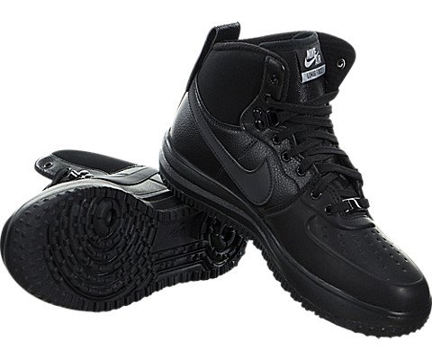 Nike Lunar Force 1 SneakerBoots (Kids) Black/Metallic Silver by Nike (Image #2)