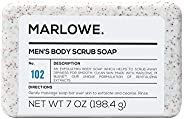 MARLOWE. No. 102 Men's Body Scrub Soap 7 oz | Best Exfoliating Bar for Men | Made with Natural Ingredients | Green Tea Extra
