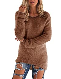 Women Autumn Winter Casual Long Sleeve Pullover Loose Knit Cardigan Sweater