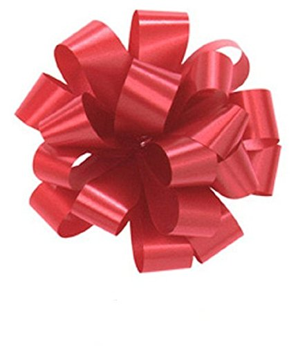 Bows, RED Gift Pull Bows, Christmas, Wrapping, Set of 10 5'' Satin