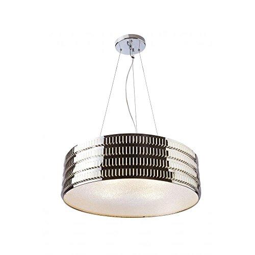 Checkolite Pendant Light (Checkolite – Axix 6-Light Drum Chandelier Ceiling Light – Ceiling Light Fixture – Ceiling Lighting – 23.6 Inch Wide – Contemporary Lighting Fixture – Silver – Frosted Glass (Chrome))