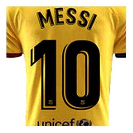 2019 Ensembles de Sport T-Shirt et Un Short, Maillot de Football Garçon #10 Manche Courte Suit de Football pour Les Fans de Football Maillot De Messi Adultes et Enfants