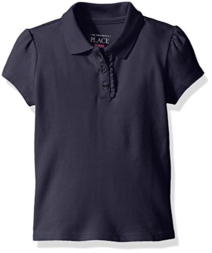 The childrens place girls little short sleeve uniform polo for Baby pink polo shirt
